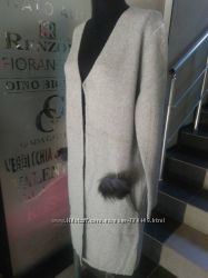 Отличное трикотажное пальто-кардиган.