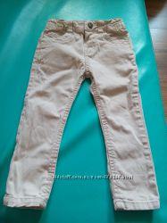 Бежевые джинсы-скини Denim & co для девочки на 2-3 года