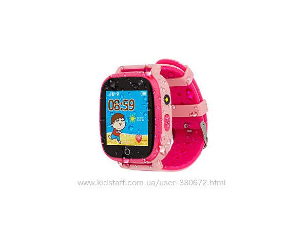 Смарт-годинник дитячий вологозахищений AmiGo GO001 iP67 Pink