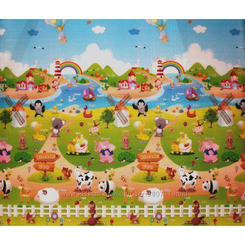 Двухсторонний коврик Сказочная ферма BabyPol 1500х1800х10 мм, бебипол