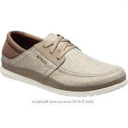 Мужские летние туфли мокасины крокс crocs Santa Cruz Оригинал