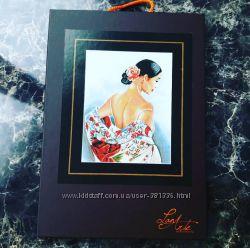 набор вышивка lanarte Flower Scarf Цветной шарф
