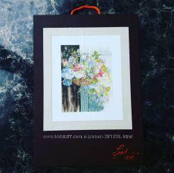 набор вышивка lanarte Flower Basket Корзина цветов