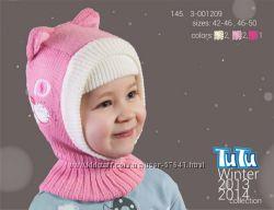 Распродажа, зима, шапки, шлемы для девочек р. от 46 до 54 от Tu-tu