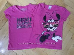 2 розовые футболки на 5-6 лет C&A