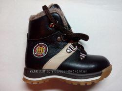 Прекрасные кожаные зимние ботиночки FESS - размеры 23-25