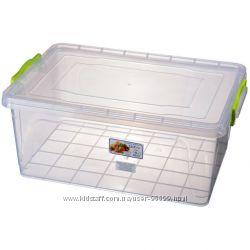 Контейнер для хранения с зажимами Ал-пластик Lux 17л, 23л