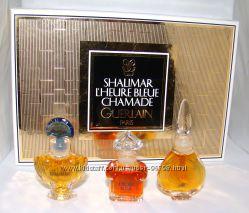 Набор духов LHeure Bleue, Chamade, Shalimar Guerlain. Оригиналы. Винтаж.