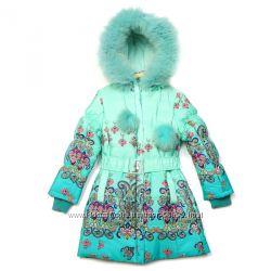 Kiko 3327 зимнее пальто для девочек на тинсулейте