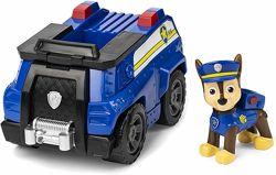 Щенячий патруль Paw Patrol Чейз на полицейкой машине. Гонщик.