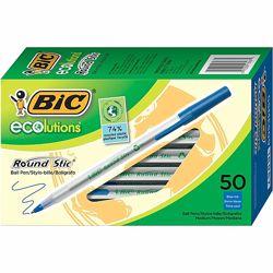Ручка шариковая  BIC Ecolutions,  1,0 мм, синий, 50 шт.
