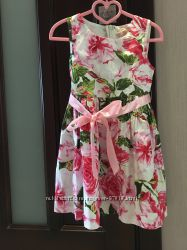 Модное платье- принт цветы
