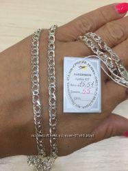 Серебряная цепь Рембо вес 15. 51г. длина 55 см.