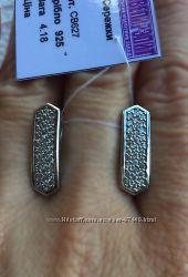 Серебряные серьги. Родий.