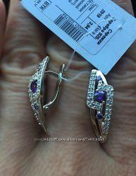 Серебряные серьги. 2 цвета