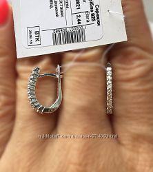 Супер нежные серебряные серьги. Дорожка.