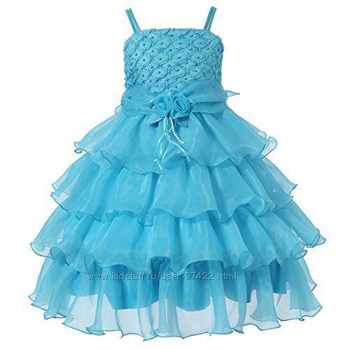 Нарядное праздничное пышное платье для девочки