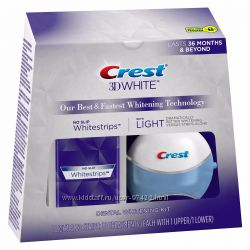Эксклюзив от Crest 3D White Whitestrips with Light, 10 ct