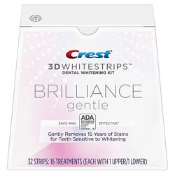 CREST Brilliance Gentle Whitestrips- отбеливание чувствительных зубов