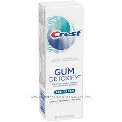 Crest Gum Detoxify Deep Clean Toothpaste- защита от налёта