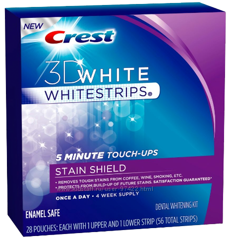 Crest Whitestrips 3D White Stain Shield- голливудская улыбка за 5 минут