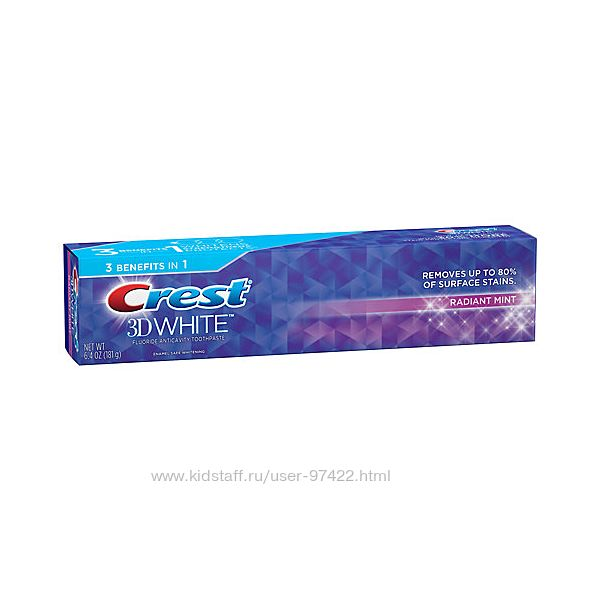 Зубные пасты Crest 3D White в ассортименте