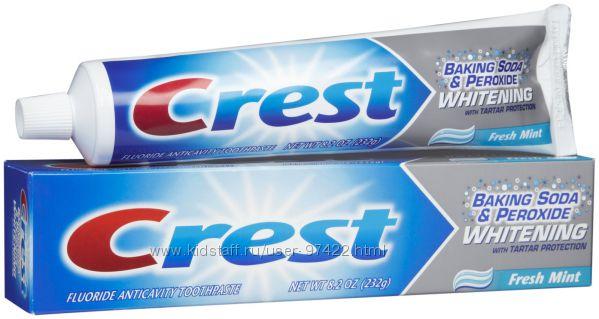 Crest Baking Soda Peroxide Whitening- лучшая отбеливающая паста в США