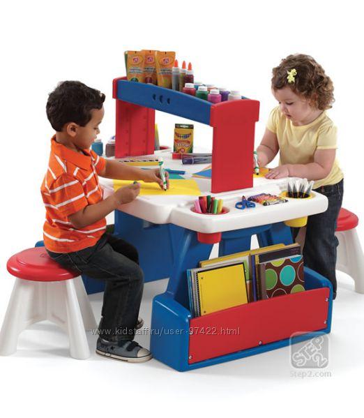 Столик для двоих деток STEP2. Часть 4.