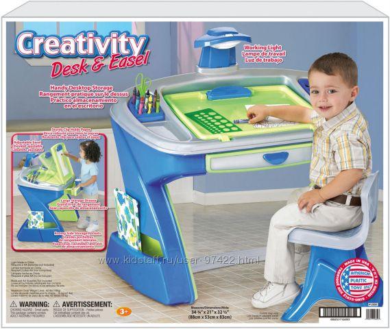 Парта-мольберт American Plastic Toys Creativity Desk and Easel