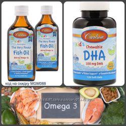 Carlson Labs, Наилучший рыбий жир, для детей, 2 вида - жидкий и капсулы