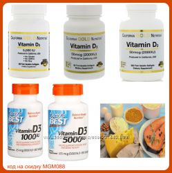 Витамин Vitamin D3  D-3 с iHERB,  20 видов в наличии