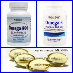 Madre Labs и California Gold Nutrition, Омега 3  рыбий жир  премиум-класса