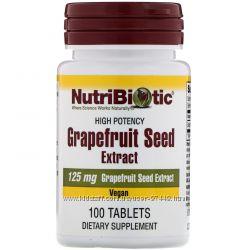 NutriBiotic, экстракт семян грейпфрута, 250 мг   и 125 мг