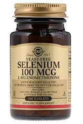 Solgar, Селен, 100 мкг, 100 таблеток