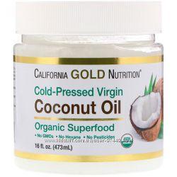 California Gold Nutrition, Органическое нерафинированное кокосовое масло