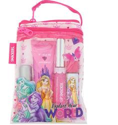 Lip Smacker, Гламурная косметичка Disney Princess, 4 предмета