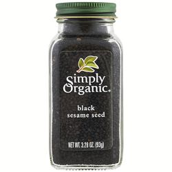 Simply Organic, Органическое, черное семя кунжута, 3,28 унции 93 г