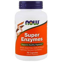 Now Foods, Супер Энзимы Super Enzymes, 90 капсул