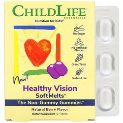 ChildLife, Healthy Vision Комплекс для зрения с лютеином и черникой для дет