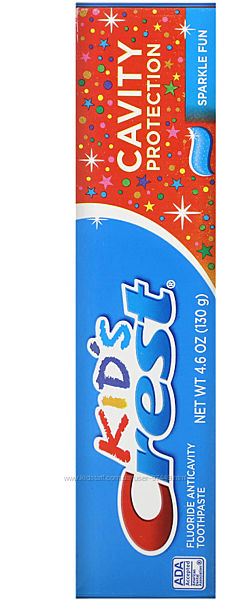 Зубная паста Crest, Kids, Fluoride Anticavity Toothpaste, Sparkle Fun,