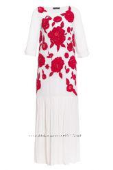 Платье с вышивкой и бисером Twin -Set Simona Barbieri Италия