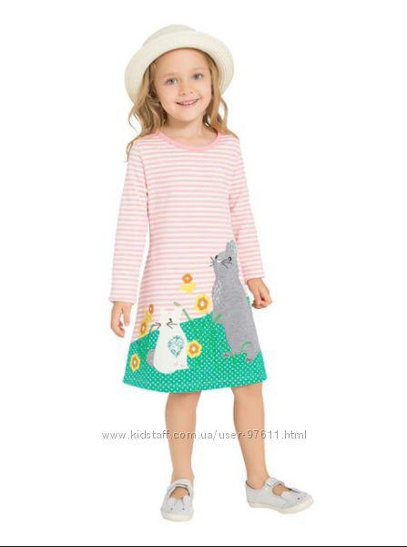 Дитяче трикотажне плаття Кролики. Бавовна. Розміри 3Т 4Т 5Т 6Т