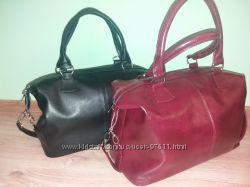 Женская объемная сумка бочечка модель 546 цвета бордо черная синяя