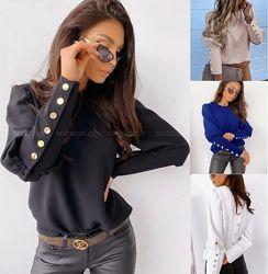 Блуза жіноча 19 гудзиків розмір 42-46