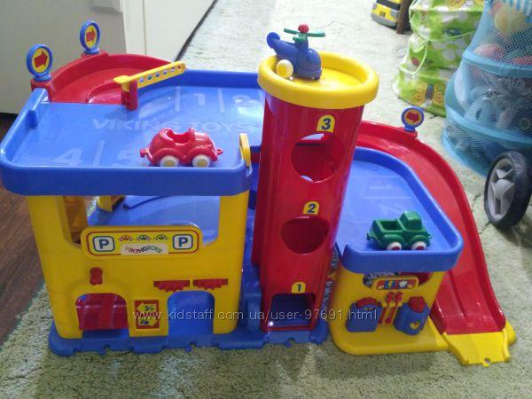Парковка, трехуровневый гараж Viking toys