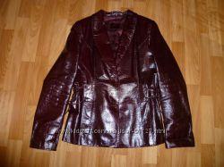 Женская кожаная куртка-пиджак