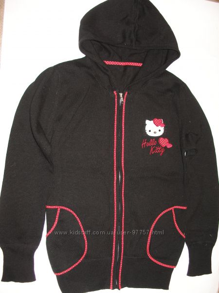 Кофта с капюшоном для девочки Hello Kitty, рост 140