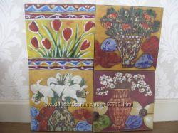 Продам картины - качественная печать на холсте, прорисовка поверх акрилом.