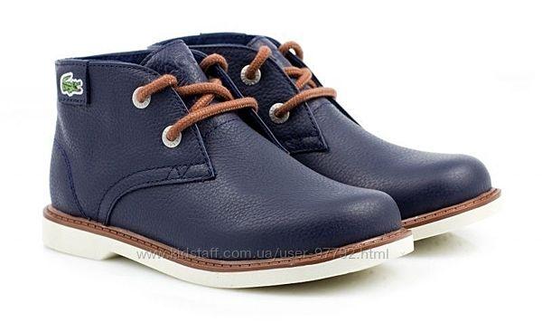 Распродажа натуральные новые деми ботинки Lacoste
