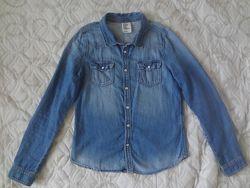 Джинсовая рубашка Нм для девочки р. 146